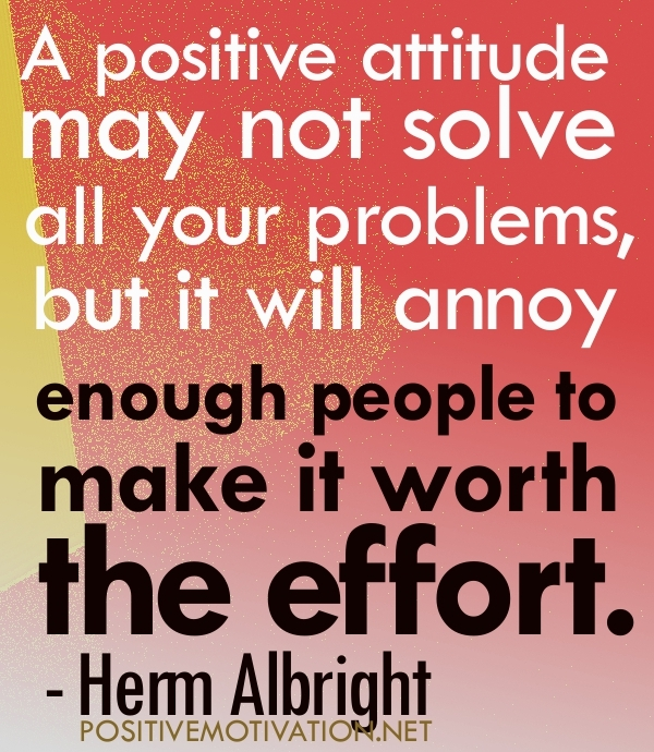 all in your attitude