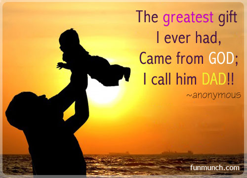essay on father the greatest gift of god