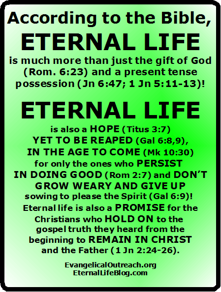 eternal security can a christian lose his The definition of eternal security, or perseverance of the saints, is defined in the moody handbook of theology as the calvinistic doctrine of the believer's security those whom christ chose and died for are eternally secure in their salvation they can never fall away or be lost once they are saved (enns.