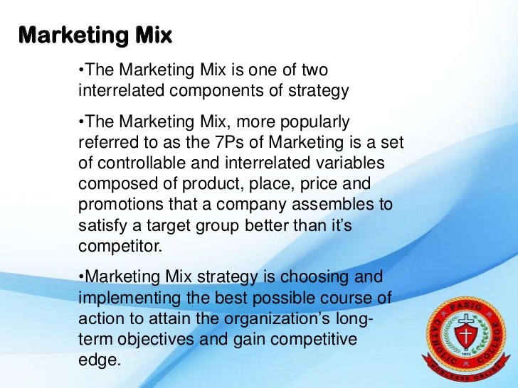 marketing mix for the first two