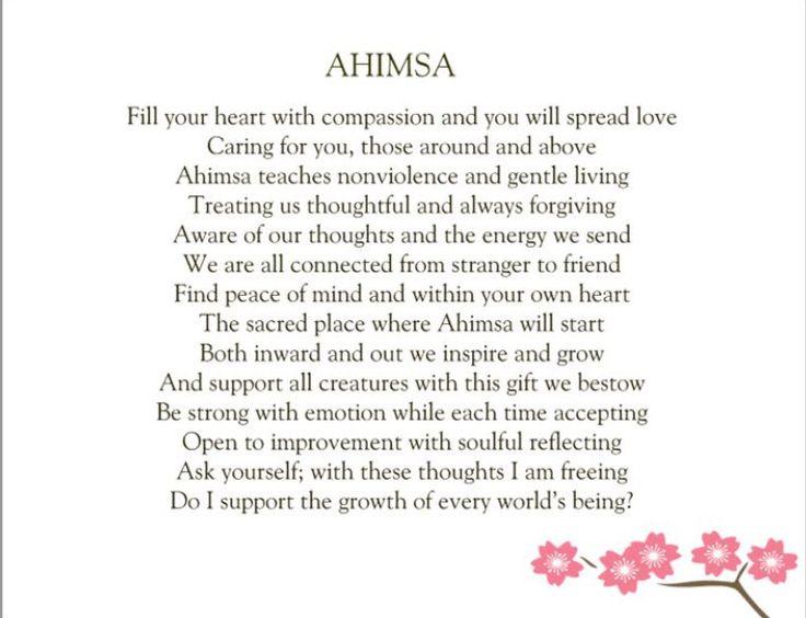 ahimsa essay