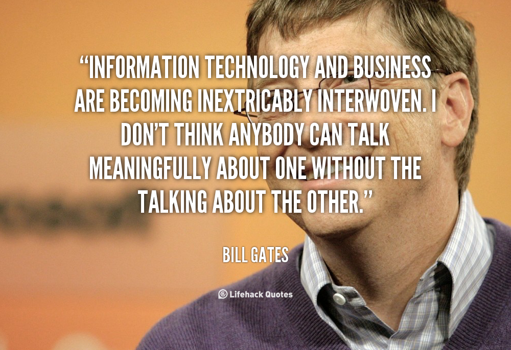 Quotes about Business and technology (62 quotes)