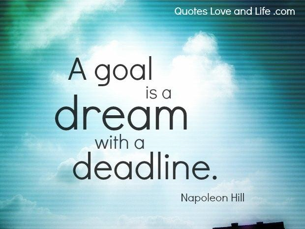 life goal and dream The goal in life trope as used in popular culture one of the most difficult things in life (perhaps the most), is trying to figure out what to do with it.