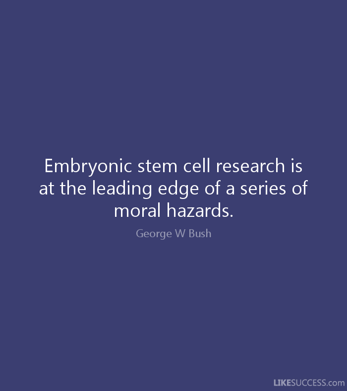 stem cell research vs morality Abstract the use of human embryos for research on embryonic stem (es) cells is currently high on the ethical and political agenda in many countries.