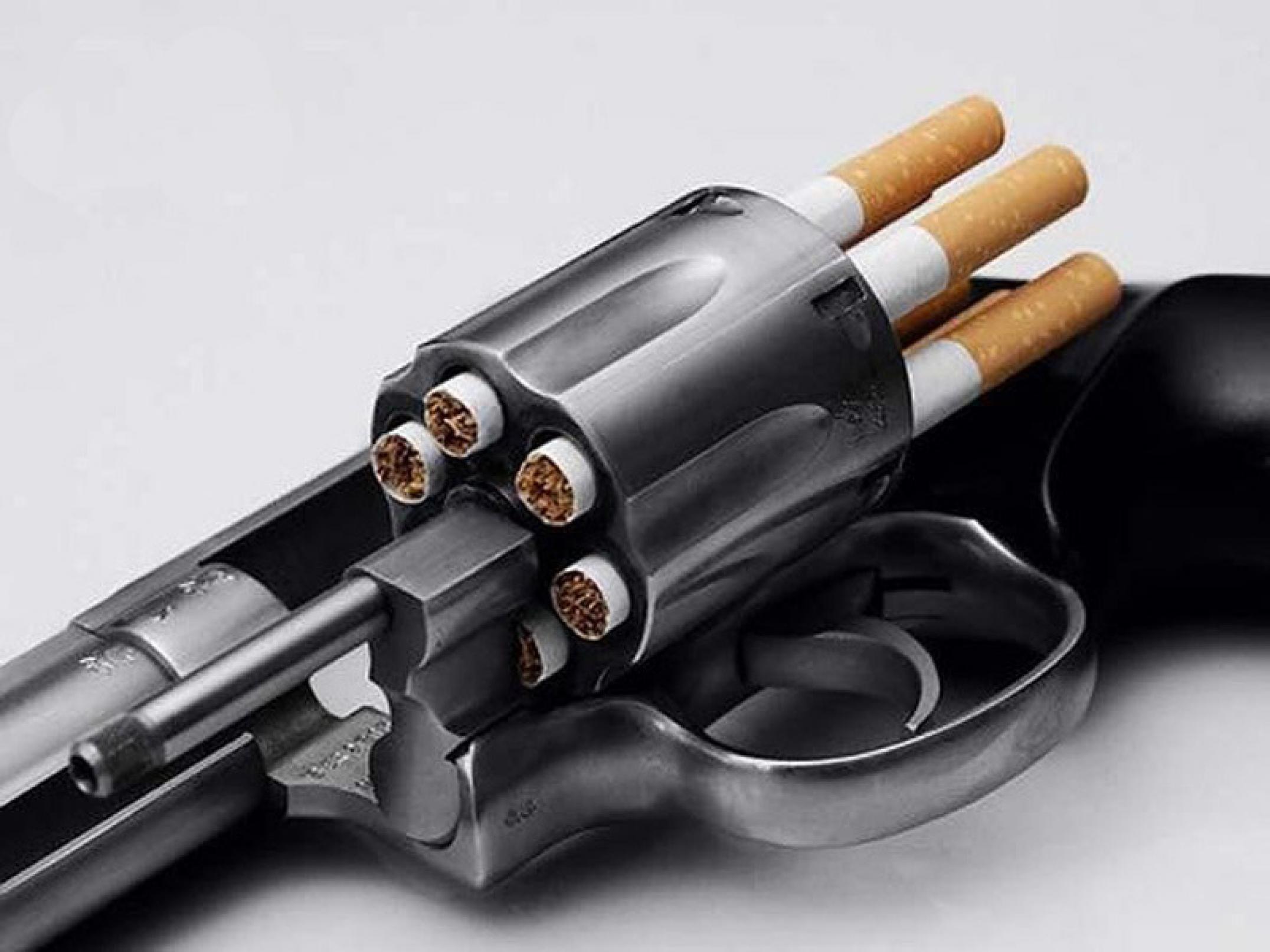 smoker passive smoking and visual argument