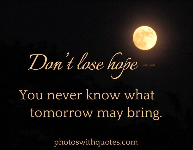 losing hope of finding love