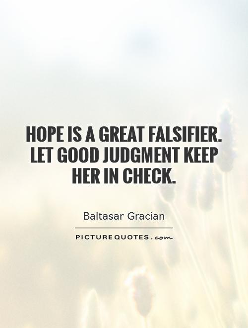 Clouded judgement quotes