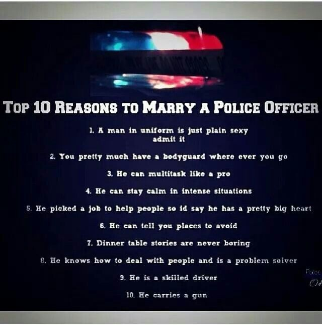 Dating a cop