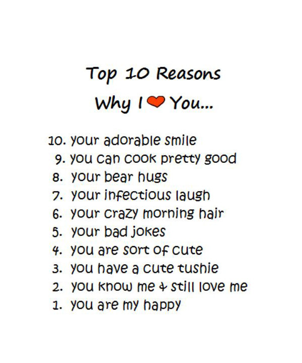 Reasons Why I Love You Quotes Cool Quotes About Reasons Why 48 Quotes