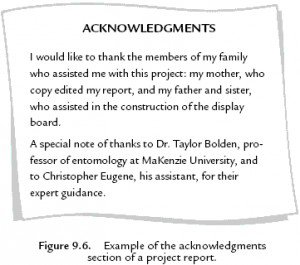 Project thesis acknowledgement - Research paper Academic Writing ...