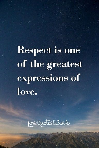about respect