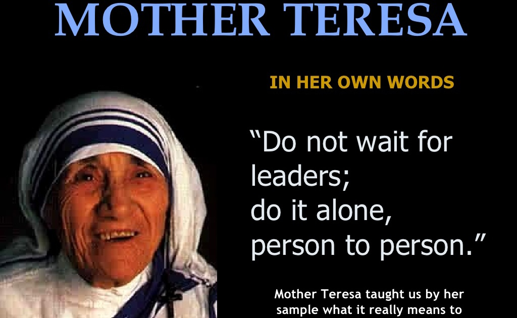 the life and works of mother teresa Biography mother teresa mother teresa (1910-1997) was a roman catholic nun who devoted her life to serving the poor and destitute around the world she spent many years in calcutta, india where she founded the missionaries of charity, a religious congregation devoted to helping those in great need.