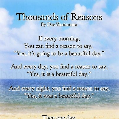 Quotes about Another beautiful day (21 quotes)