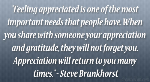 quotes about being appreciated 65 quotes