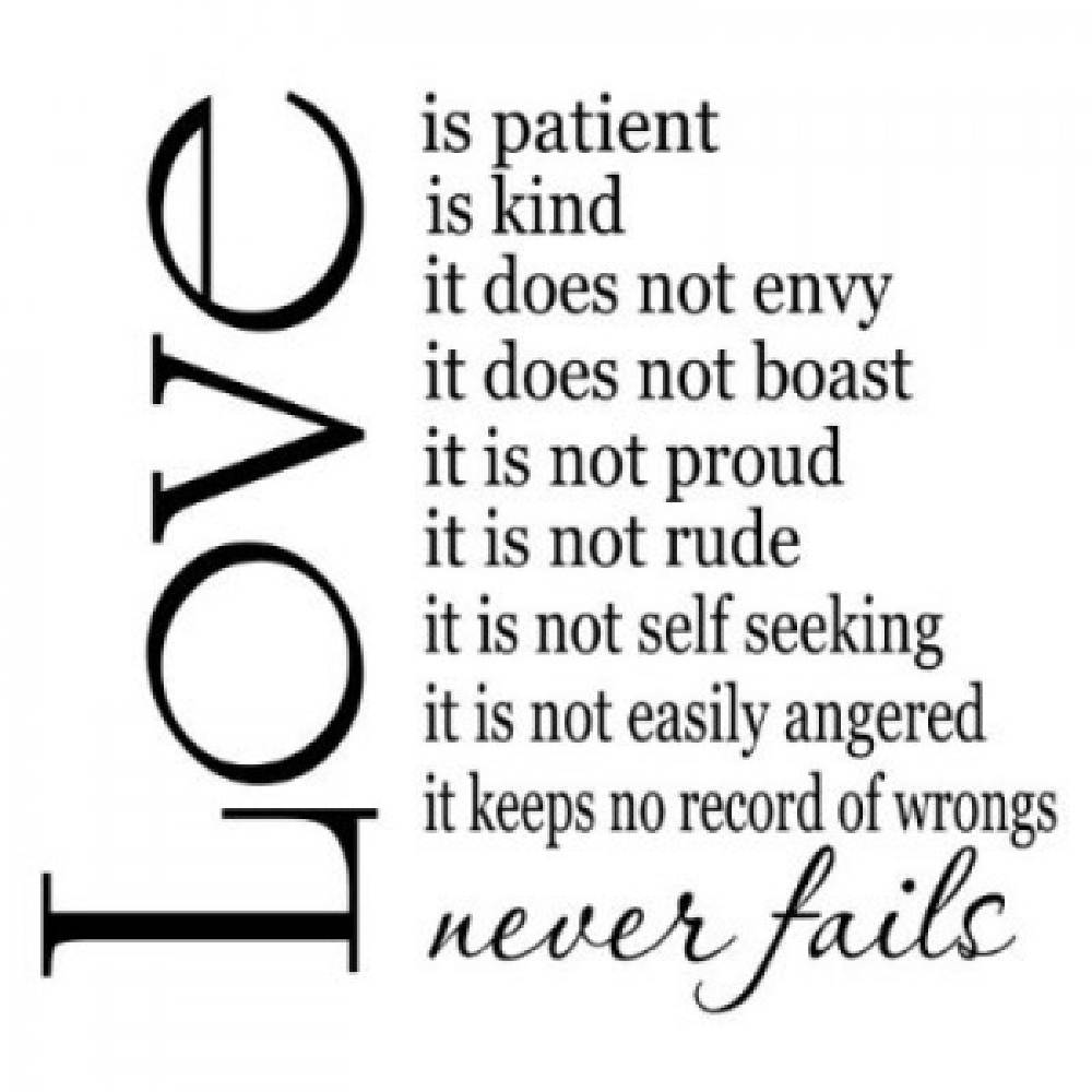 Love Is Patient Love Is Kind Quote Quotes About Love Is Patient Love Is Kind 23 Quotes