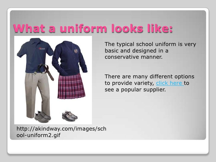 essay on why uniforms are good for schools In my opinion school uniforms can help reduce search for: should students wear school uniform essay but i think its therefore a good.