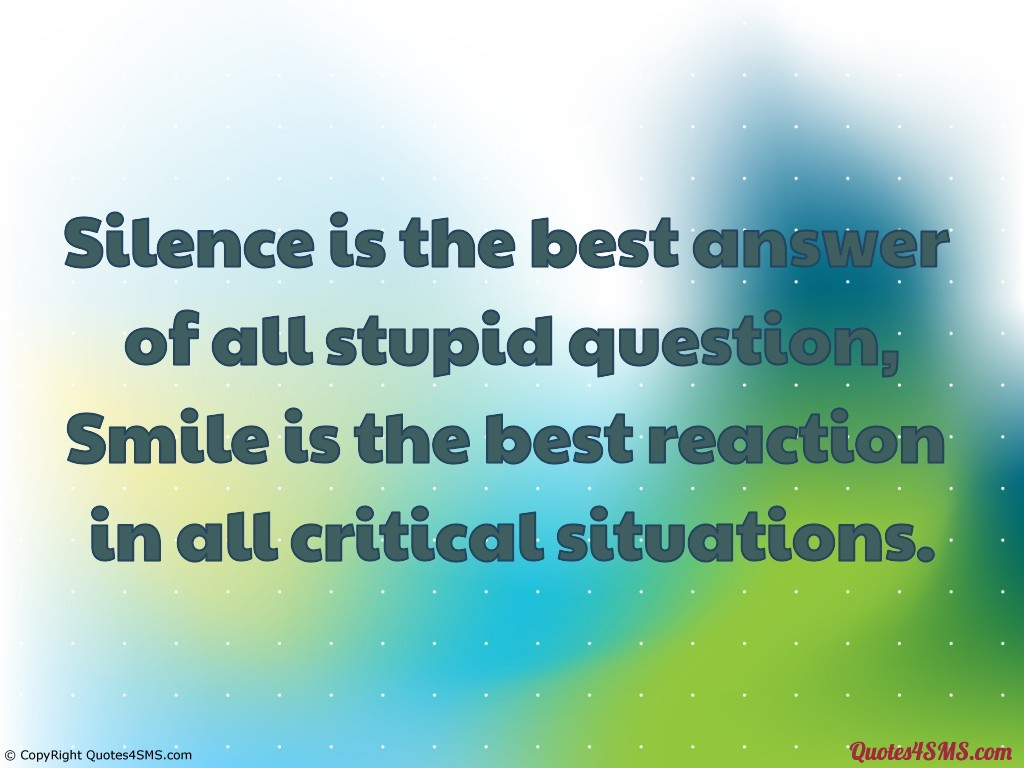 Quotes About Answers Silence 52 Quotes