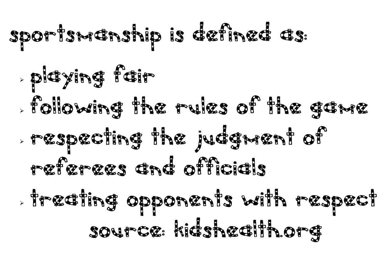 Examples Of Good Sportsmanship For Kids