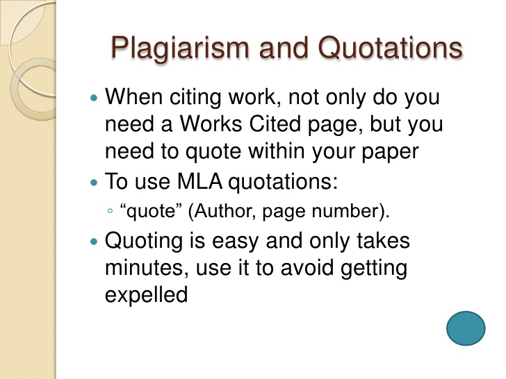 quoting in a research paper Research papers research paper and no source should be listed on your works cited page that was not referenced in your paper simply put, if you did not cite a.
