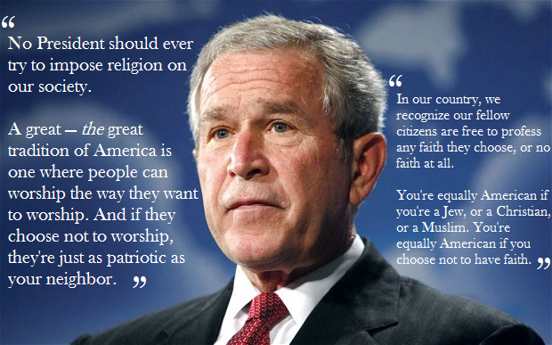 christianity politics and george bush essay George bush's ethical modesty matthew lee anderson on december 29, 2007 a few months ago, i claimed that modesty is an essential virtue for bioethicists , but was unsure what shape such modesty might take.