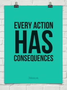 actions have consequences essay
