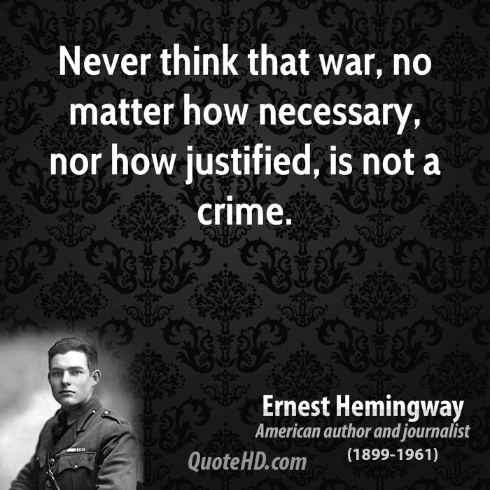 is war justifiable essay