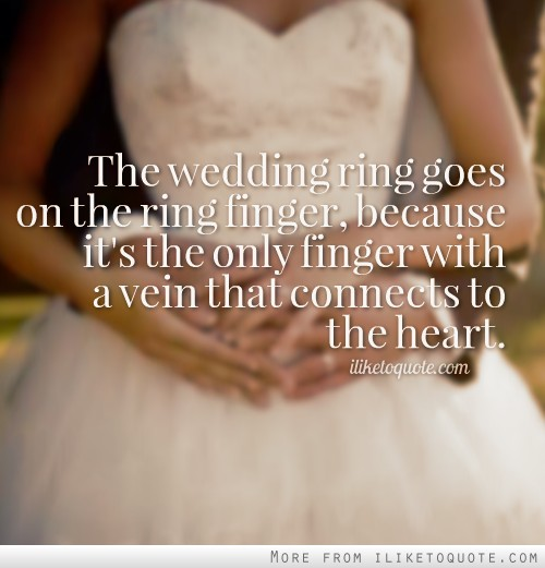 Quotes About Wedding Ring (79 Quotes
