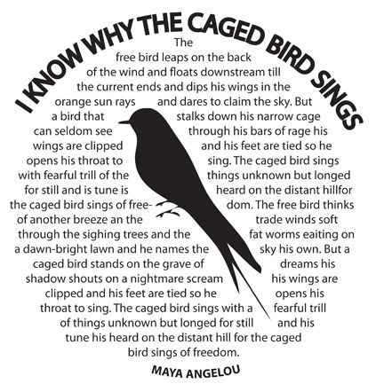 an analysis of the theme of prejudice in i know why the caged bird sings by maya angelou