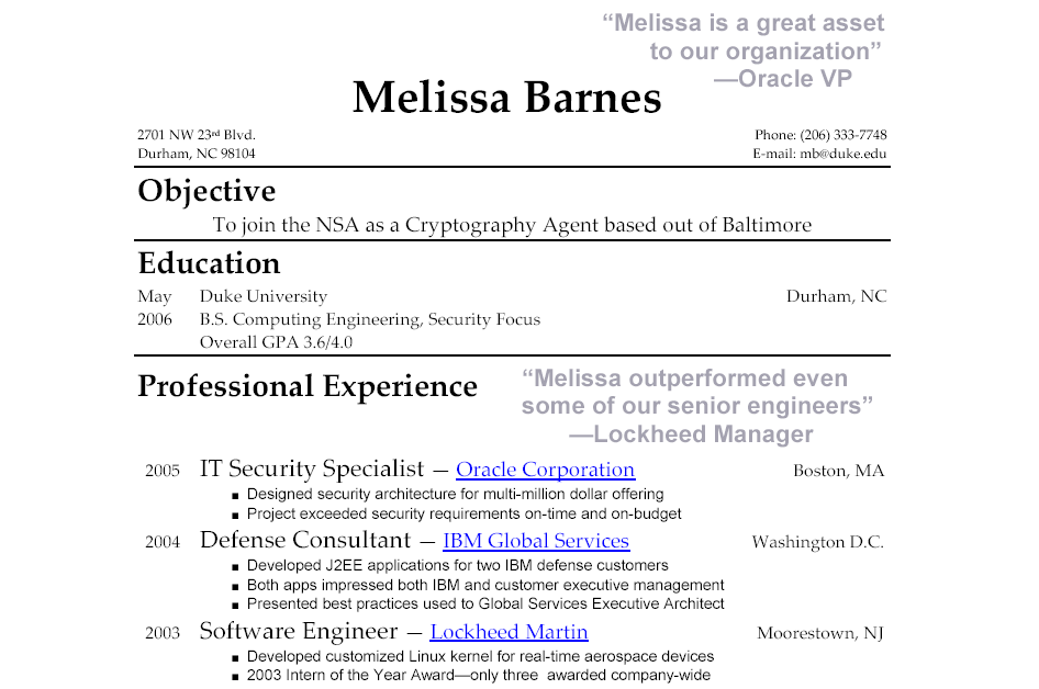 Quotes For Resumes High School Quotes Resume Example For A Job 2018