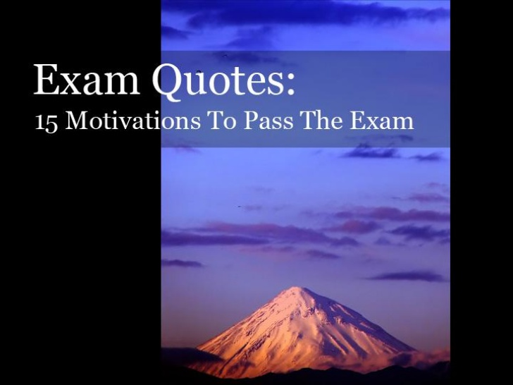 Quotes About Success In Exam 20 Quotes