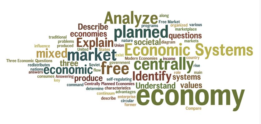 an analysis of the economic systems in an organized communities mix Literature review • organized systems of care health status of the population or community served, and has systems in place to.