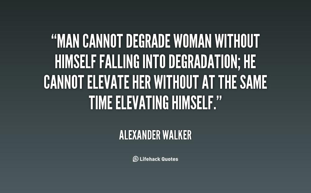 degradation of women