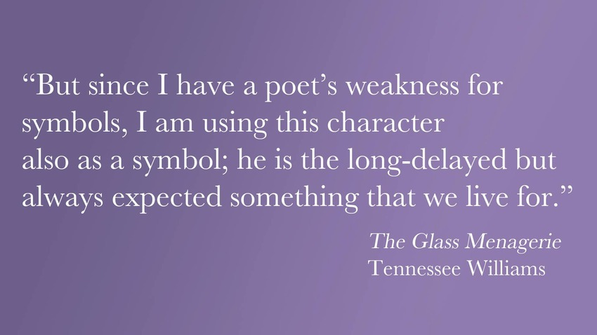 symbolism of the glass menagerie The glass menagerie, by tennessee williams is a short play that uses symbolization to describe the emotional and social states of the characters.