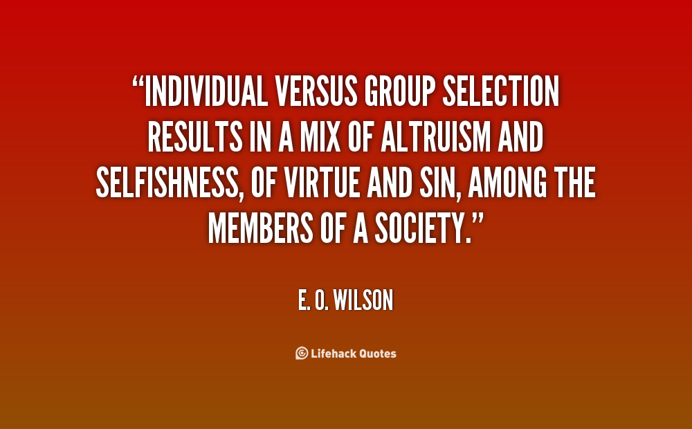 what is individual vs society