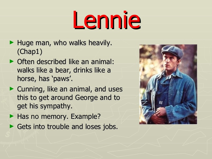 character analysis of george milton in of mice and men George milton is a protagonist from the book of mice and men george milton is a quick-witted man who is lennie's guardian, best friend and protector.