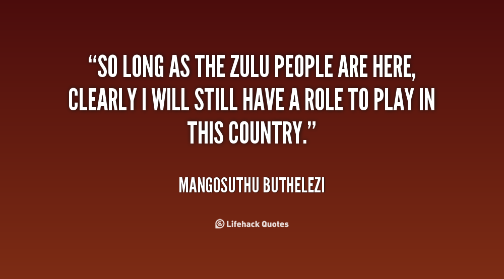 Quotes About Zulu People