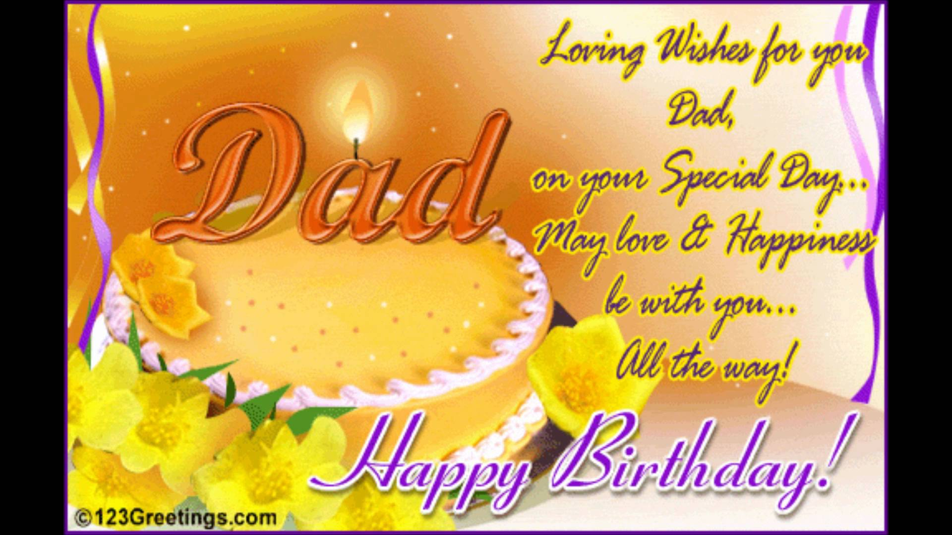 Happy Birthday Father Greetings Images Greetings Card Design Simple