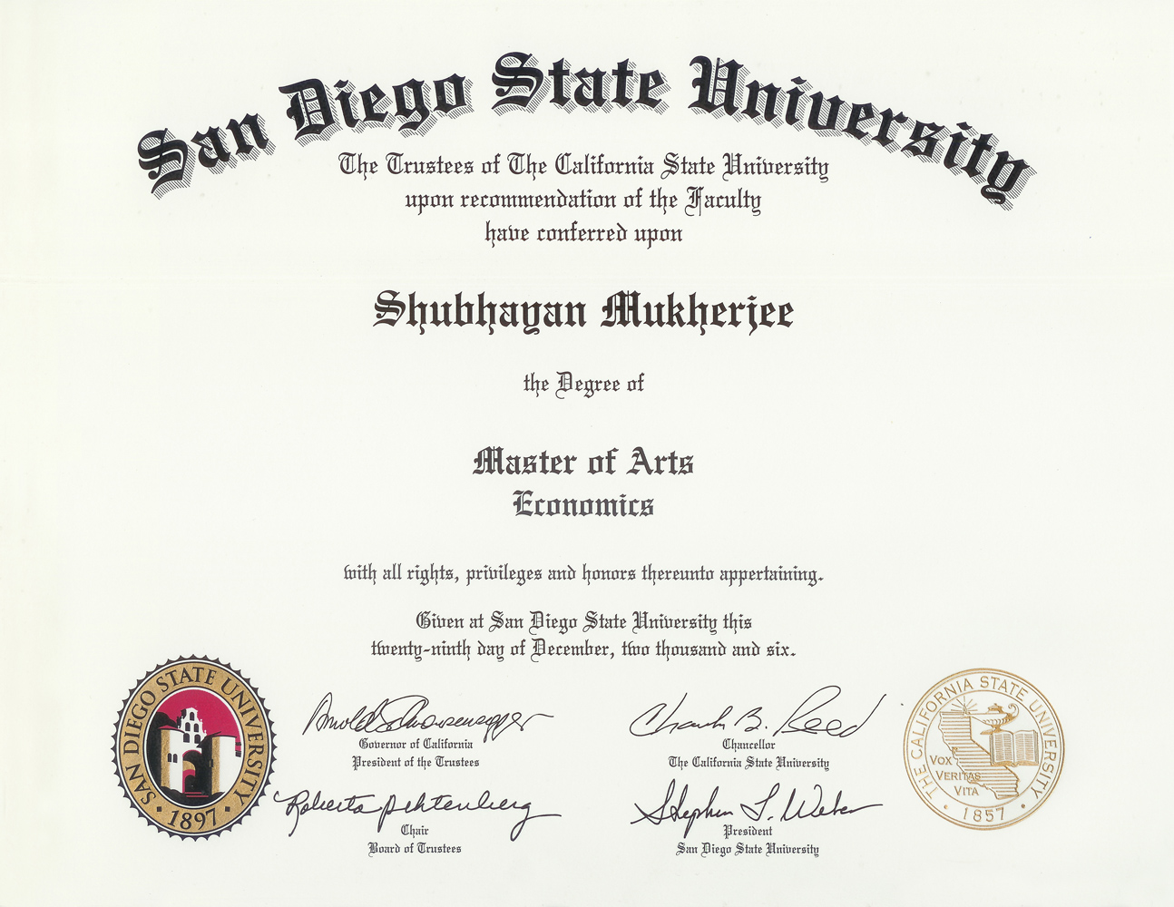 bachelor degree essay