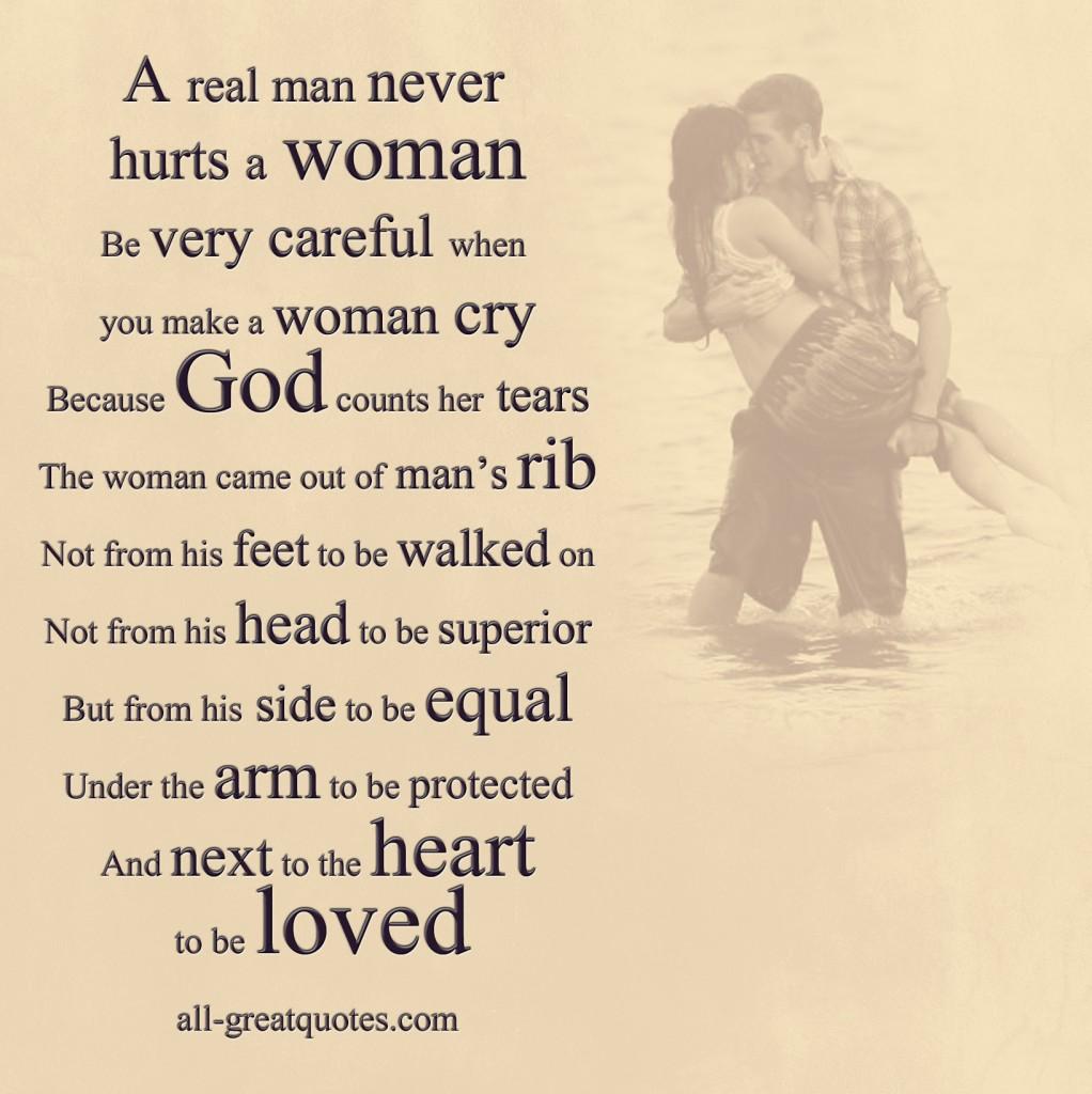 why men hurt women they love