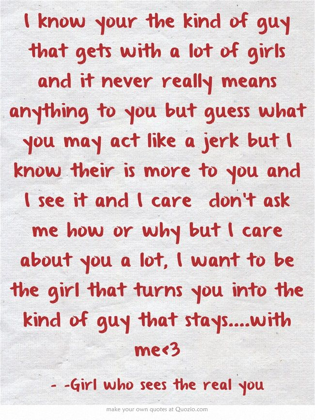 why to like a guy