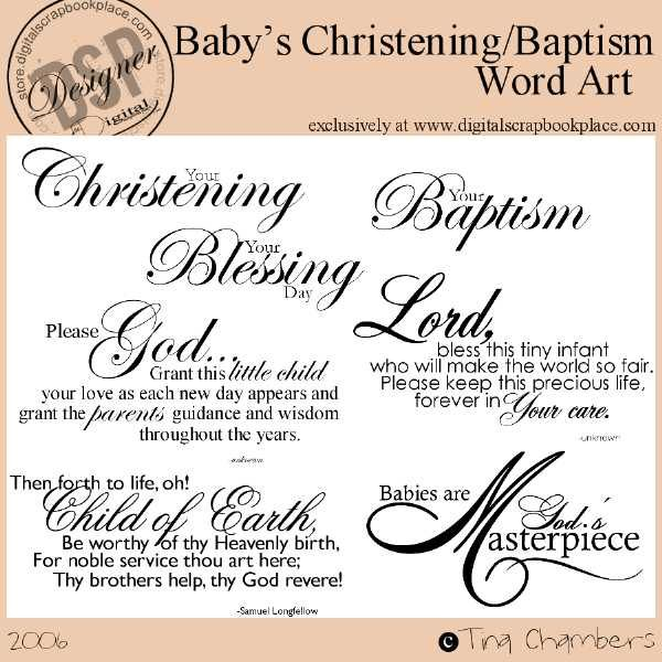 Quotes about christening 33 quotes altavistaventures Choice Image