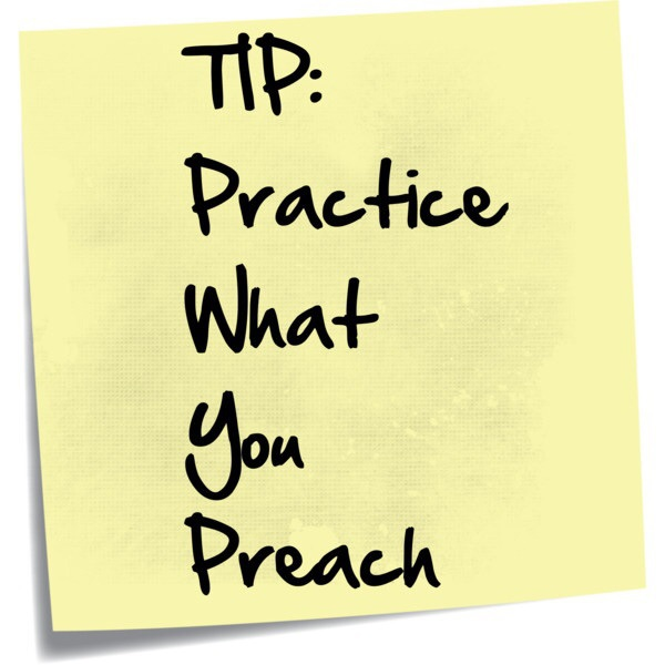 teach what you preach Introduction slogans like 'teach as you preach' and 'walk your talk' are popular among teacher educators they seem to agree that they themselves should be.