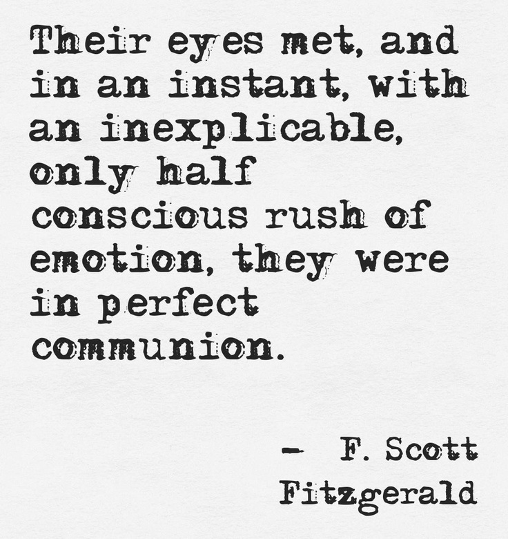 how does f scott fitzgerald tell