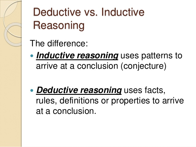 induction and deduction in research methodology Inductive reasoning, by its very nature, is more open-ended and exploratory, especially at the beginning deductive reasoning is more narrow in nature and is concerned with testing or confirming hypotheses.