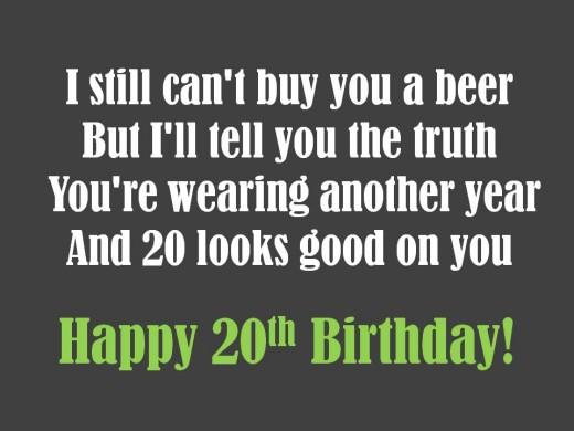Quotes About Twentieth Birthday 25