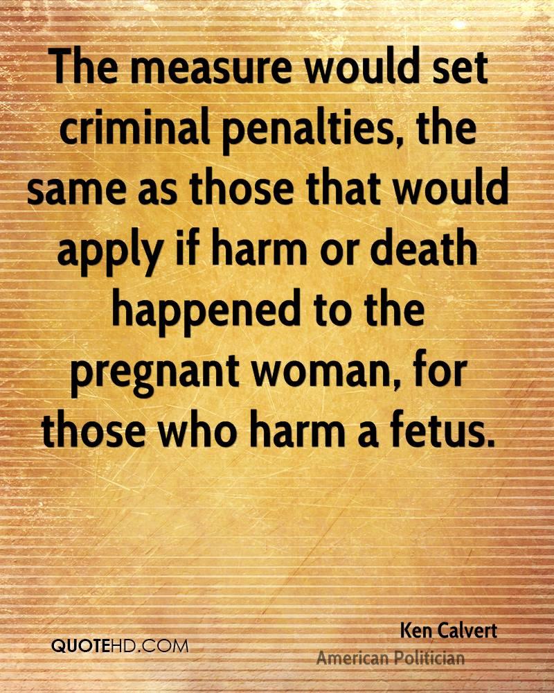 should criminal penalties be the same