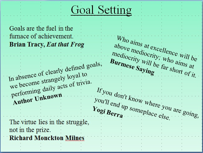 quotes about setting goals 129 quotes