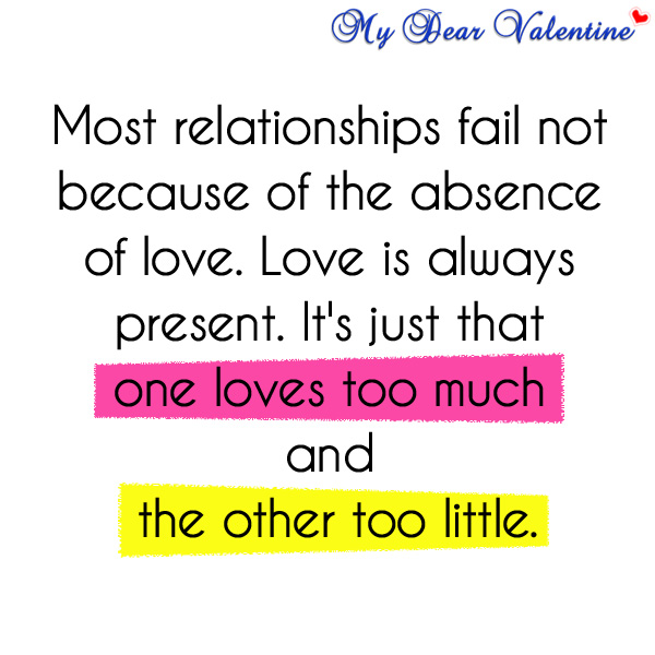 Why do relationship fail