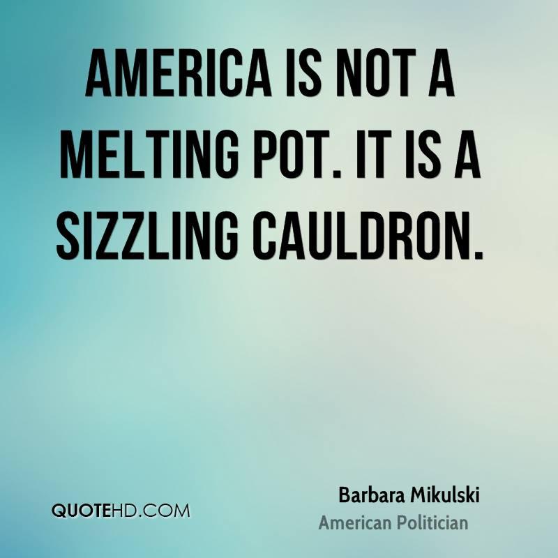 america not a melting pot