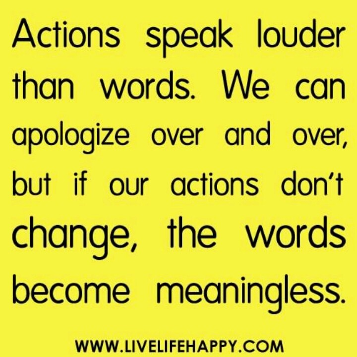action speaks louder than words essay